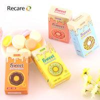 RECARE  甜甜圈系列12只装避孕套 冰火/颗粒螺纹/润滑