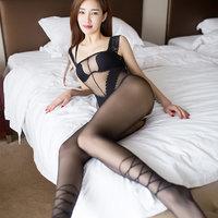 美国selebritee 爆乳蕾丝薄纱透视网衣连身袜