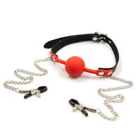 【新品】概念皮革 SM硅胶链条夹子锁扣咪咪夹