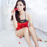 中国古典性感刺绣绑带露背情趣诱惑肚兜套装